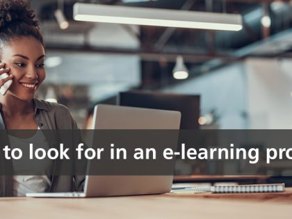 what to look for elearning provider