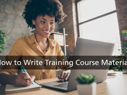how to write training course materials