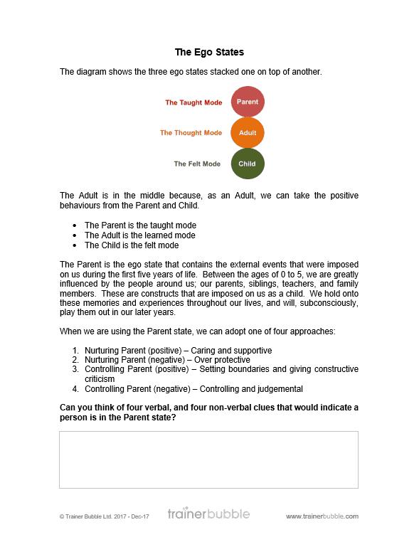 nurturing parent ego state