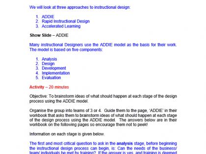 Instructional Design Training Course Materials Training Resources Uk Online