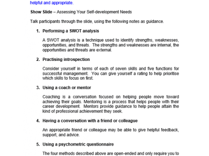 Self Development for Managers Training Course Materials | Training  Resources, UK, Online