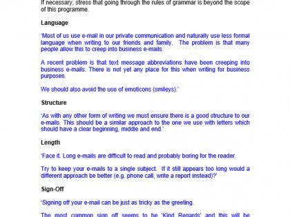 grammar emails