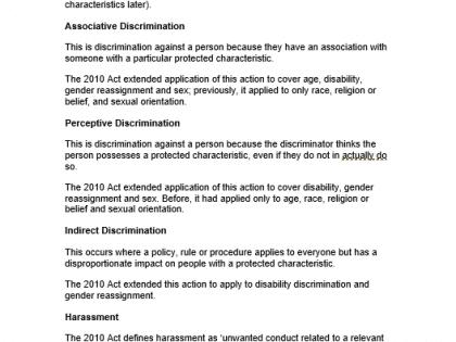 equality discrimination