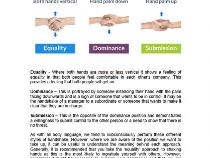 handshake gestures