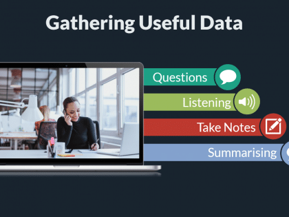 gathering sales data