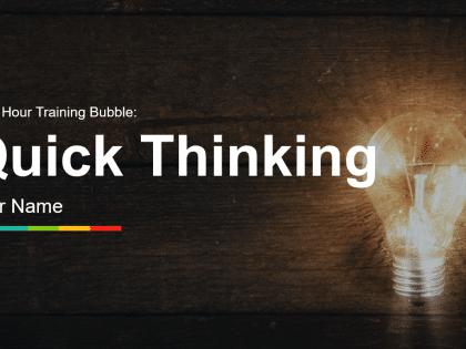 quick thinking training