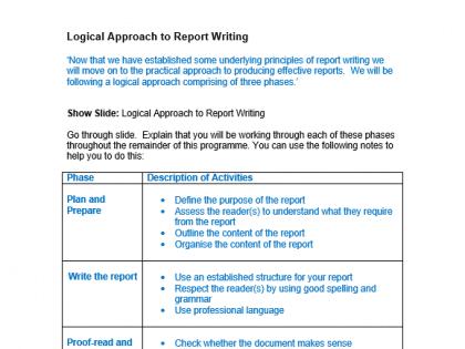 logical report writing