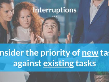 interruptions planning