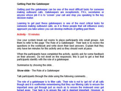 sales virtual gatekeeper